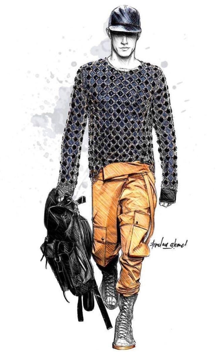 736x1211 Mens Fashion Illustrations Fashion Ideas