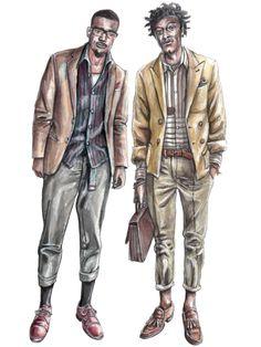 236x314 Fashion Illustration Menswear