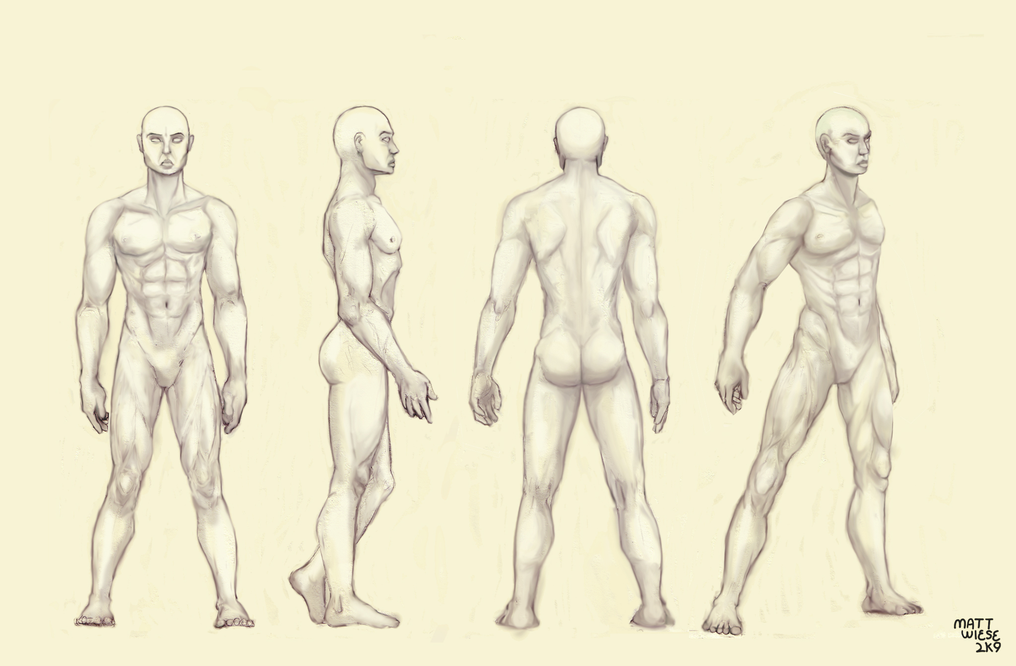 Male Figure Drawing Templates At Getdrawings Free For Personal