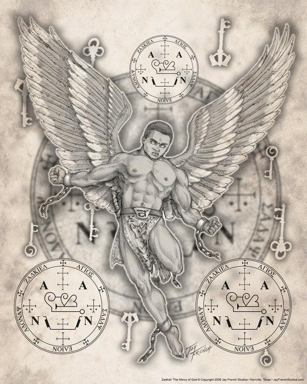 600x750 African American Male Guardian Angels Archangel Zadkiel