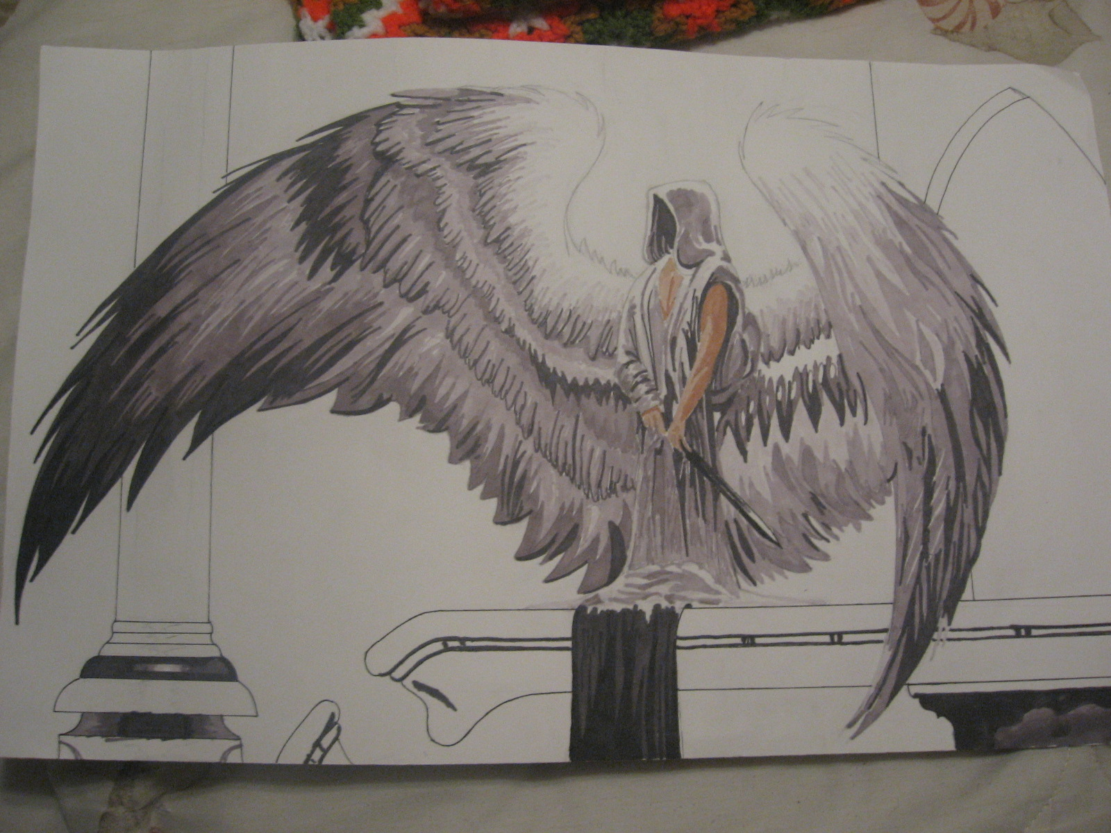 male guardian angel drawing at getdrawings com free for personal