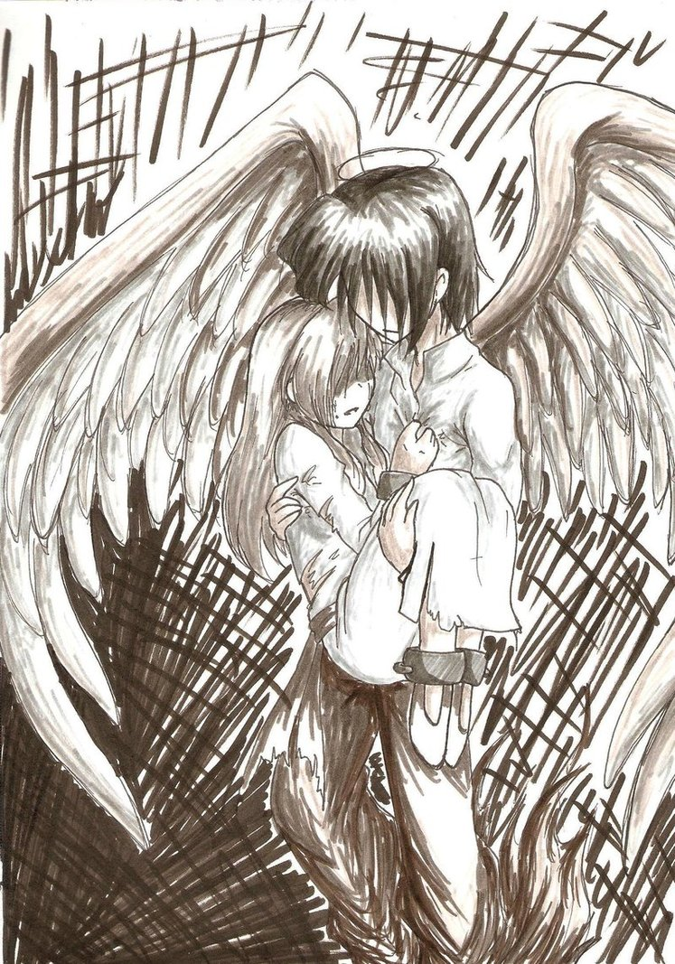 747x1067 Your Gaurdien Angel By Mess Anime Artist