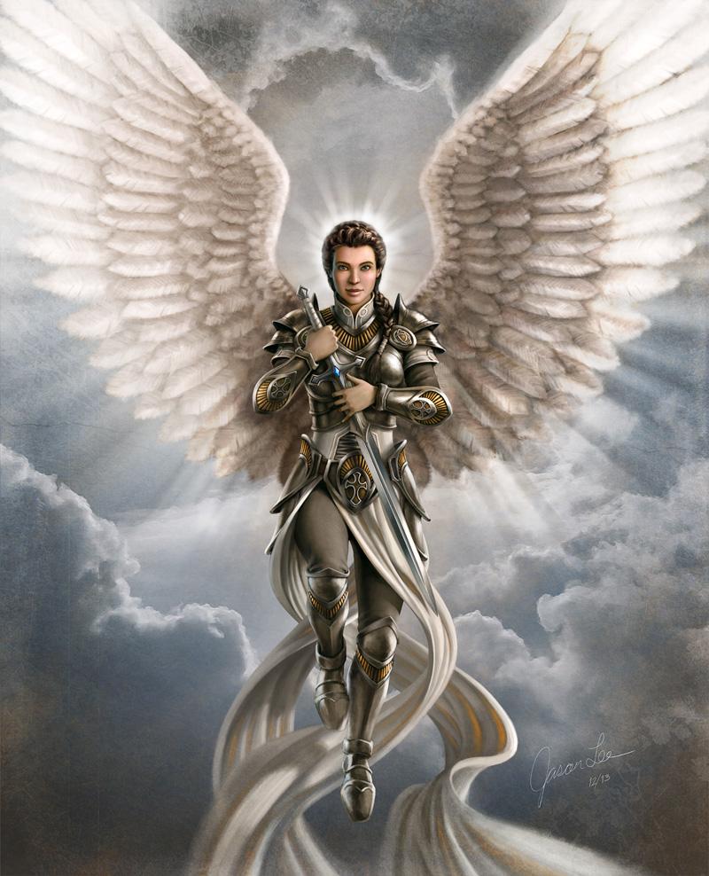 800x988 Jason Lee Angel Art Guardian Angel Warriors Of God