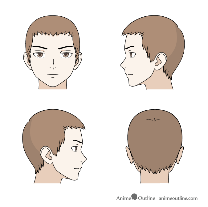 675x670 How To Draw Anime Amp Manga Male Amp Female Hair Anime Outline