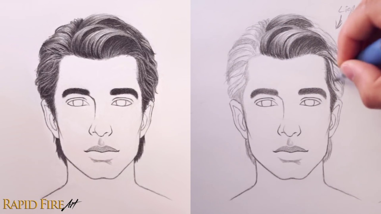 1280x720 How To Draw Hair Male Amp Female