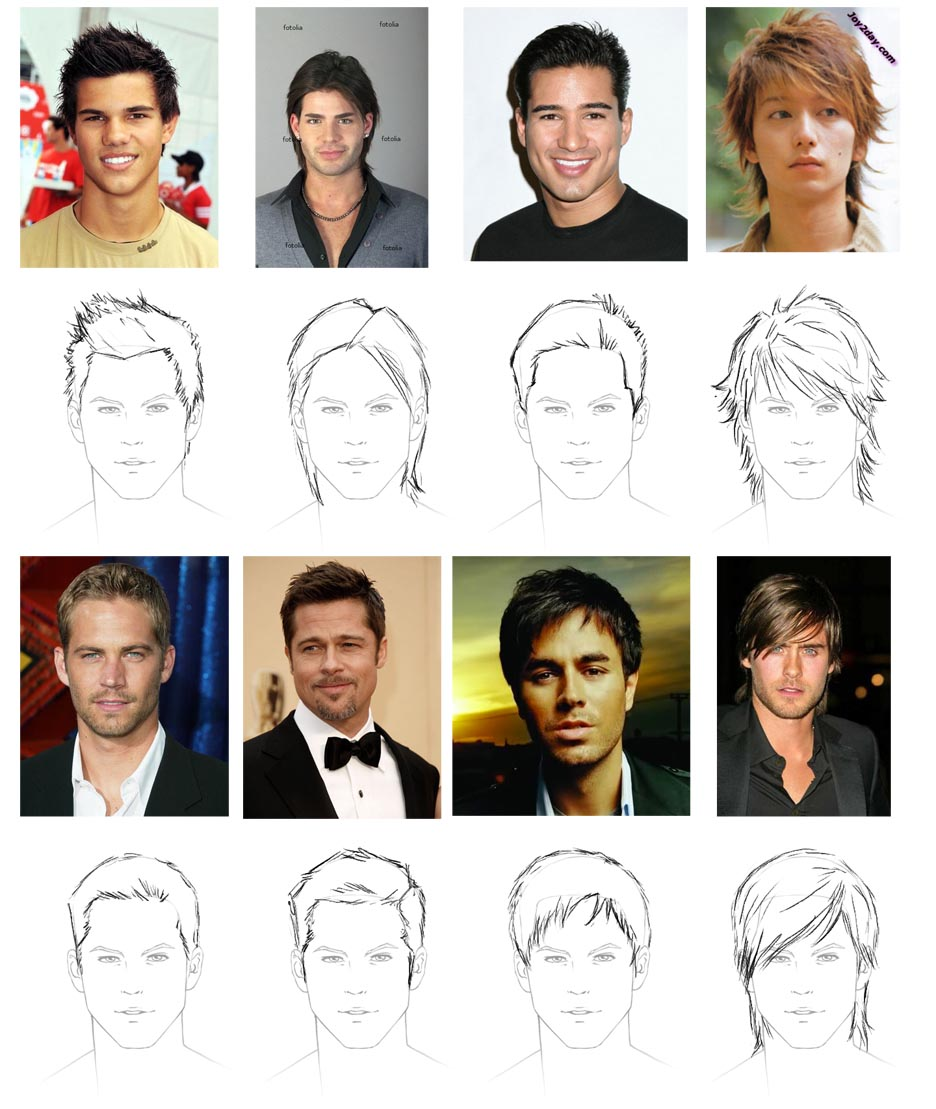 936x1109 How To Draw Hair Male Sharenoesis