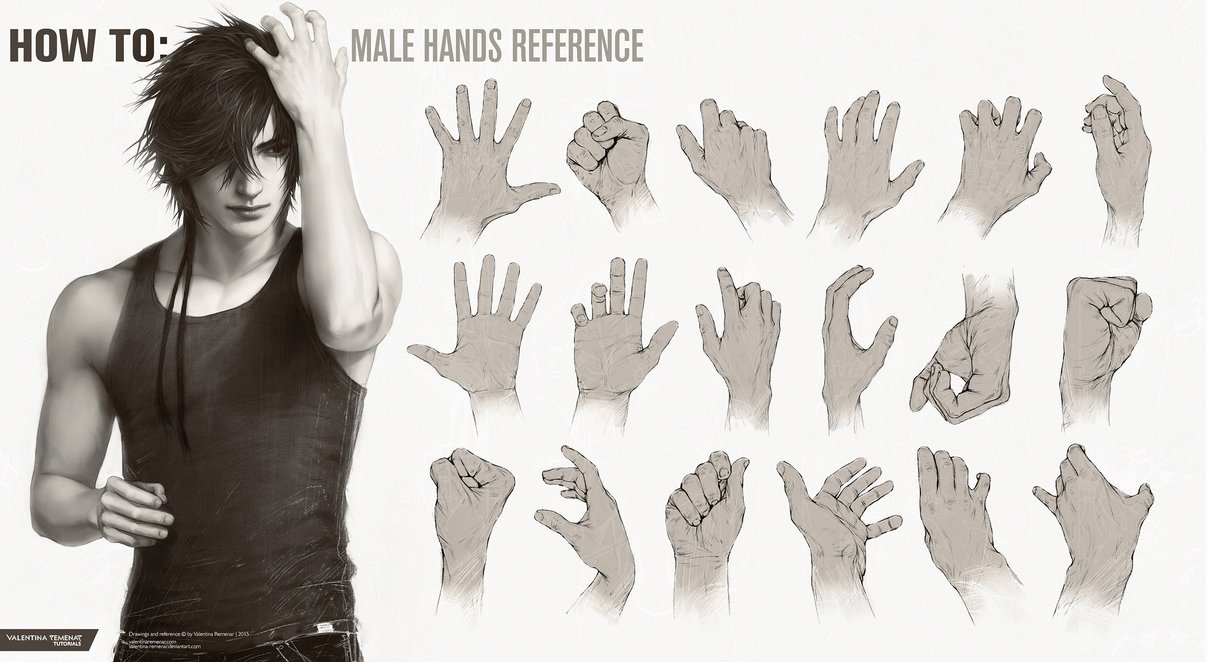 1208x662 How To Male Hands Reference By Valentina Remenar