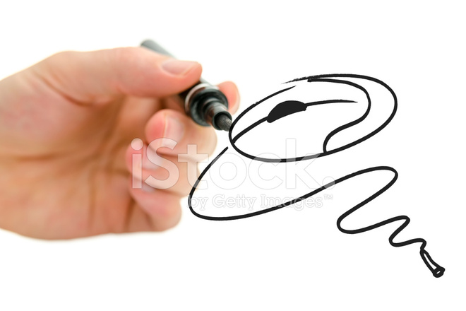 660x440 Male Hand Drawing Computer Mouse Stock Photos