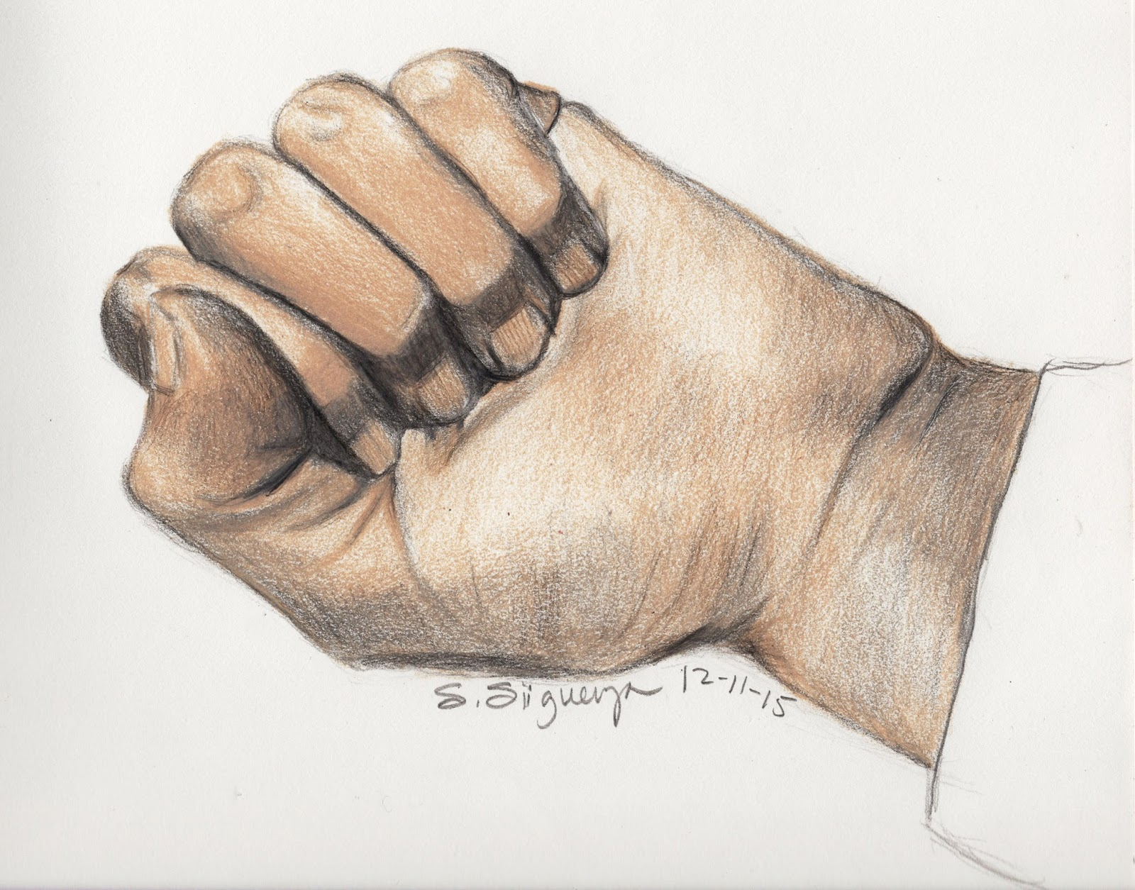 1600x1255 Male Hand Drawing With Curled Fingers, Hand Palm Pencil Sketch