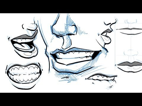 480x360 How to Draw Lips and Mouths
