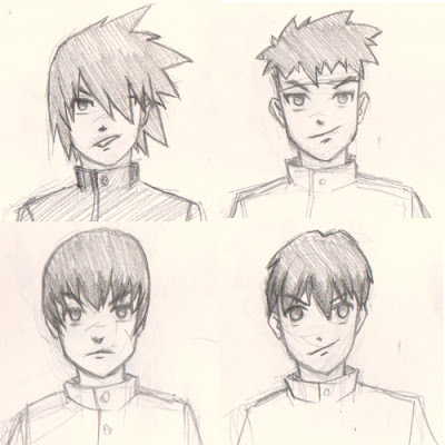 400x400 Draw Manga Hair 4 Different Ways For Male Characters Digital
