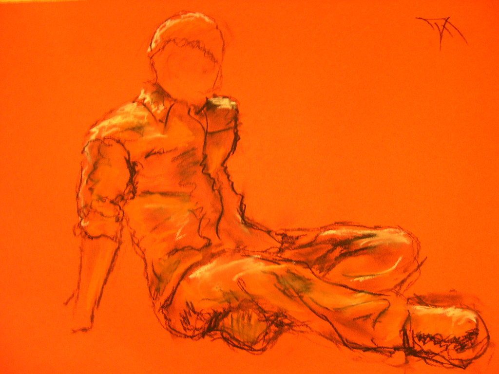 1024x768 Figure Drawing Of A Male Model By Masterpark