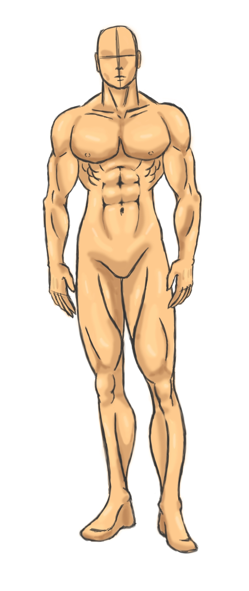 845x2000 Male Model 1 By Tenessi