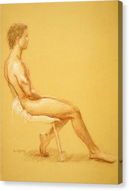 421x622 Sitting Male Model 72 Drawing By Luis Crump