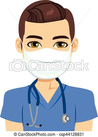 338x470 Mask Nurse Male. Young Male Nurse Wearing Surgical Antiviral