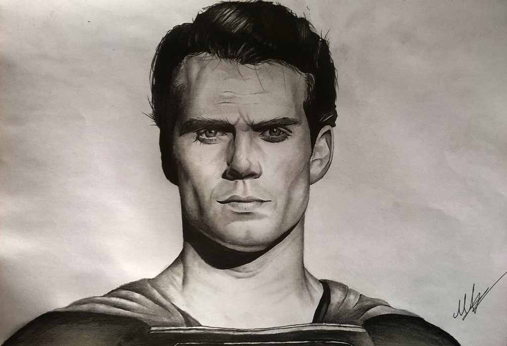 1024x698 Man Of Steel Pencil Drawing ( Superman Realistic ) By Aforarts