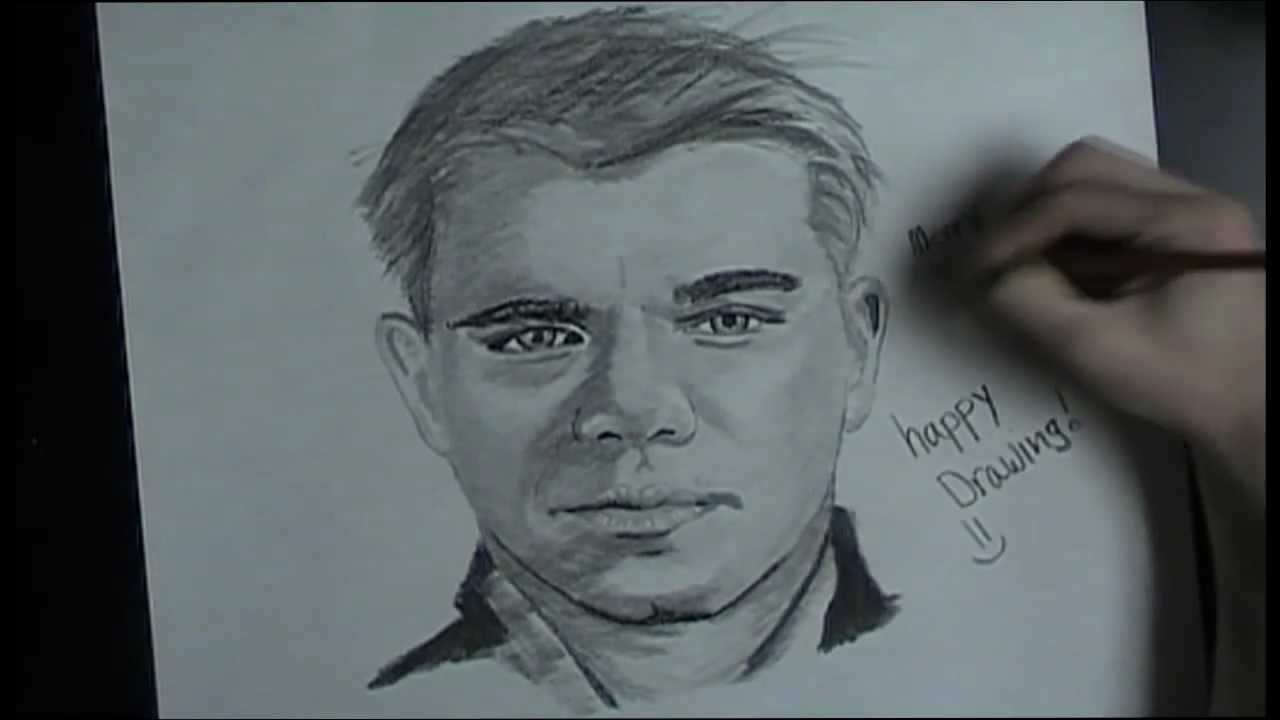 1280x720 Portrait Drawing Male Portrait Practice Merry Christmas