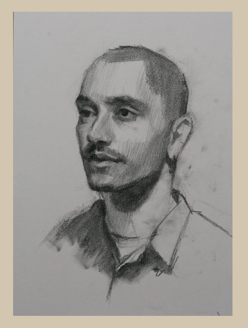 511x675 Portrait Drawing Technique With Charcoal, Louis Smith