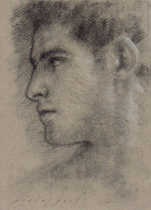 517x720 Male Profile, Charcoal Sketch, Via The Golden Age Of Tolerance