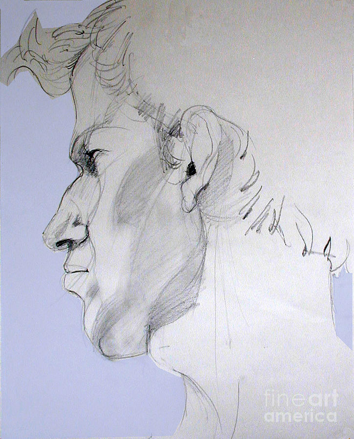 725x900 Male Profile Drawings