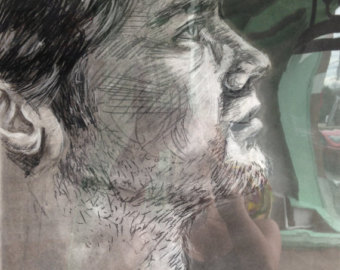 340x270 Male Profile Drawing Etsy