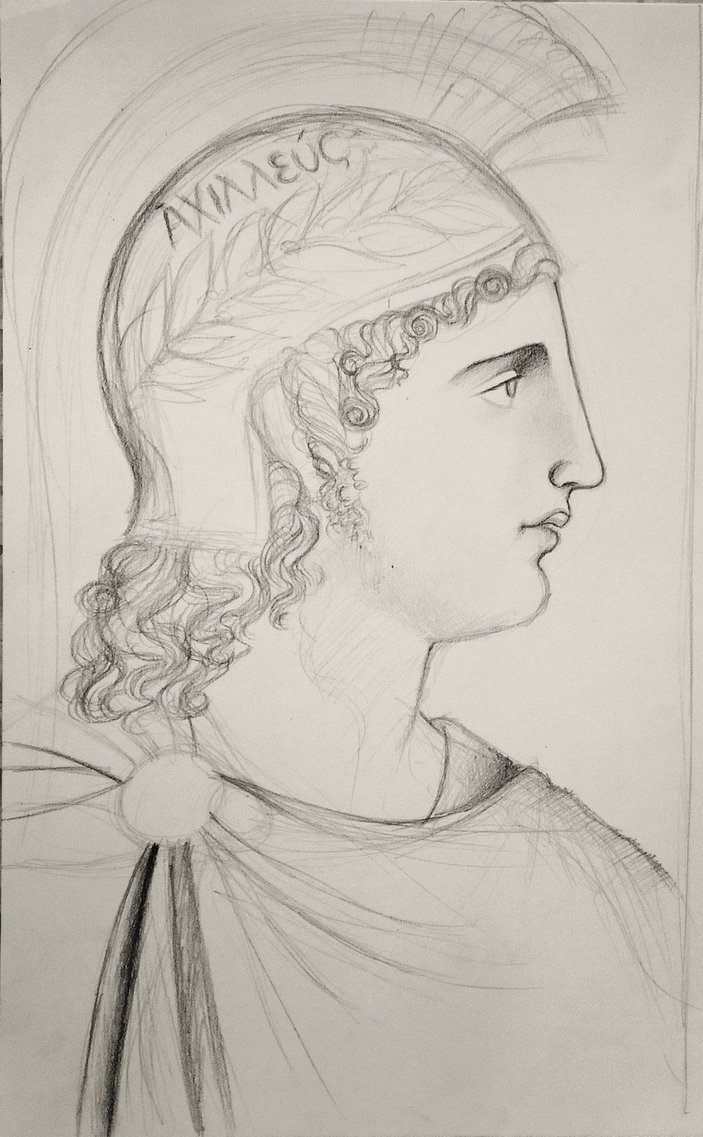 703x1137 Study Of A Greek Male Profile By Munchengirl