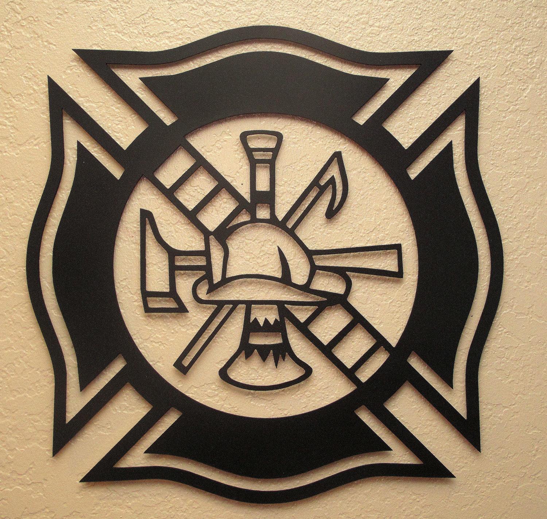1500x1422 Fireman's Maltese Cross Metal Art Maltese Cross