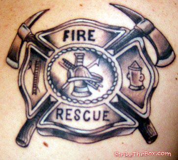 363x326 Maltese Cross Tattoo Firefighter Tattoos Maltese