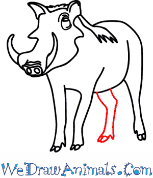 300x350 How To Draw A Warthog