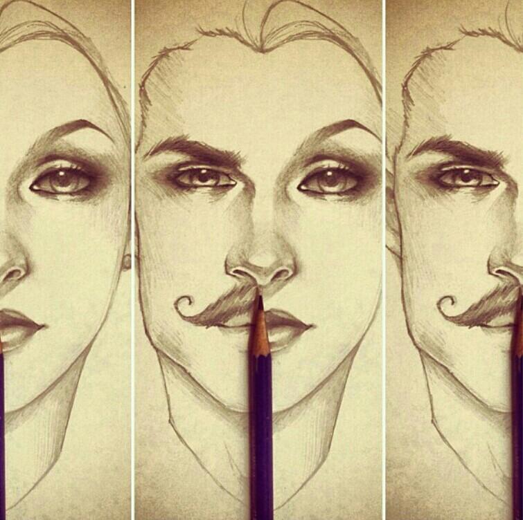 755x752 Man half face sketch â—‹ sketchy references II â—‹ Pinterest