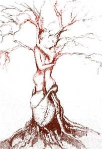 205x300 Tree Drawing Heart With Man And Woman Intertwined In Tree