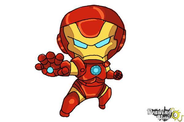 600x400 How to Draw Chibi Iron Man