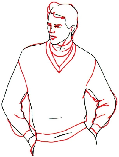 400x525 3 Draw The Face And Clothing