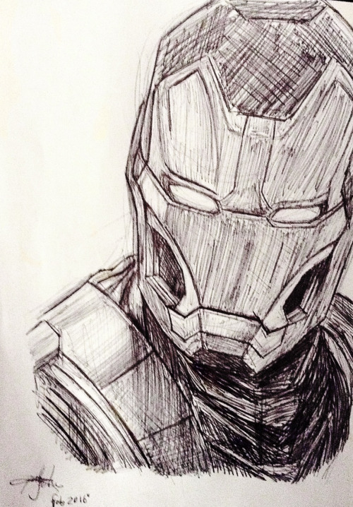 500x718 Awesome Iron Man Sketch Visions Of Iron Man