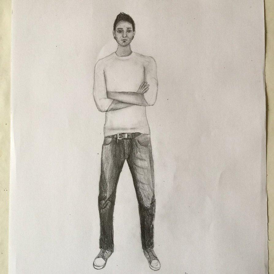 894x894 Man, Full Body Drawing Test By Danielmanni