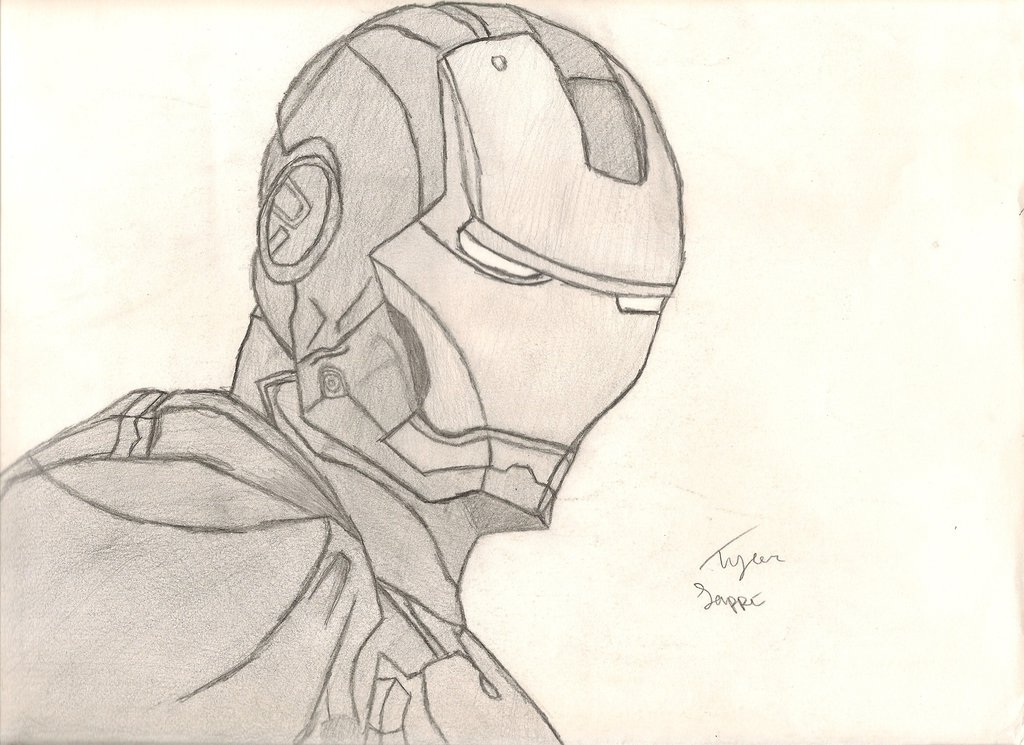1024x745 My Iron Man Drawing! By Iamcourier