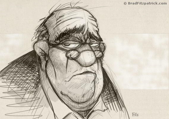 569x400 Old Man Drawing
