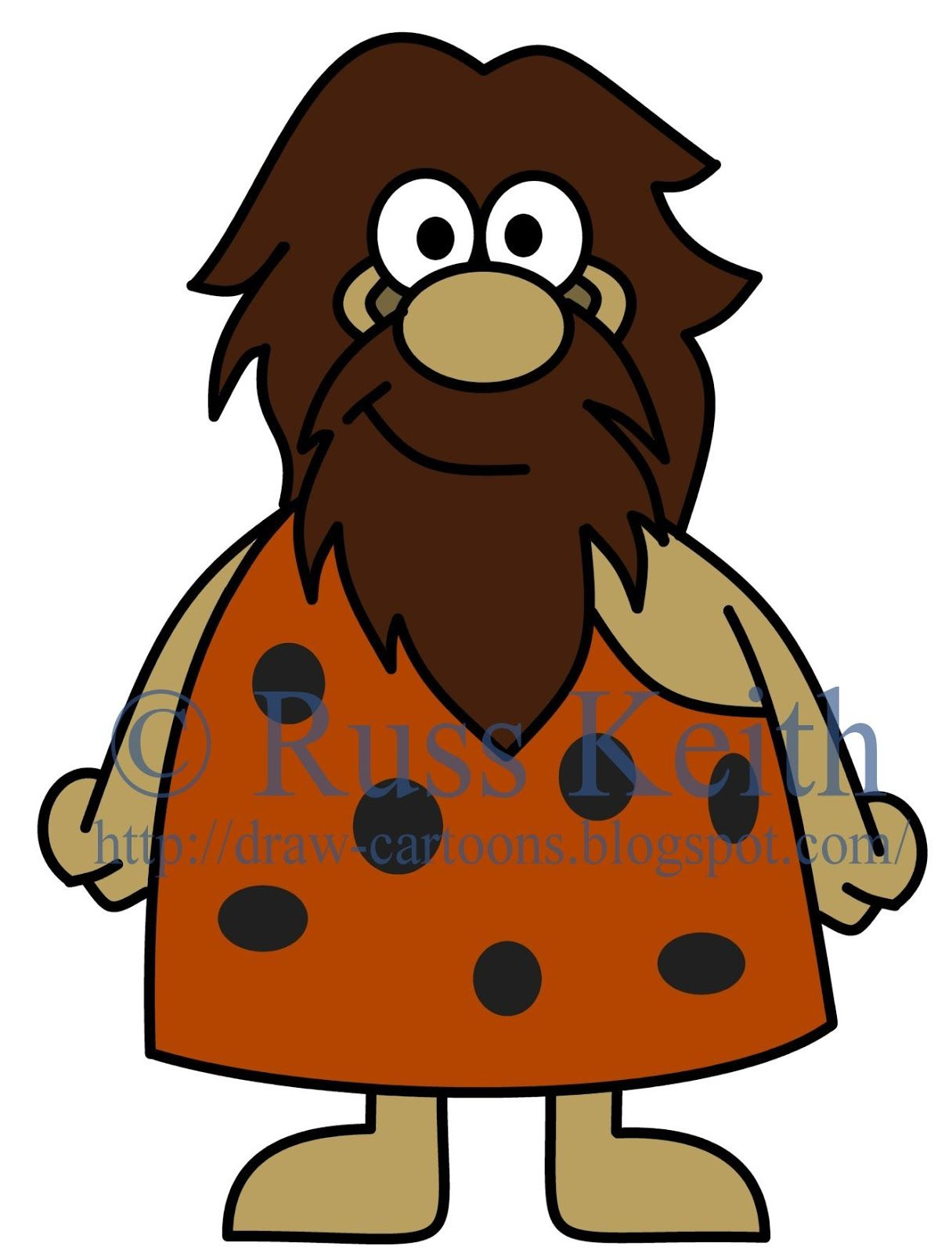 1216x1600 How To Draw Cartoons Caveman Neolithic Ages (Cartoons