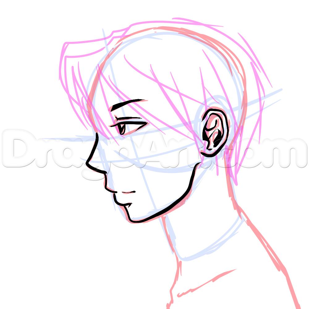 1000x1000 Gallery Anime Side View Male,