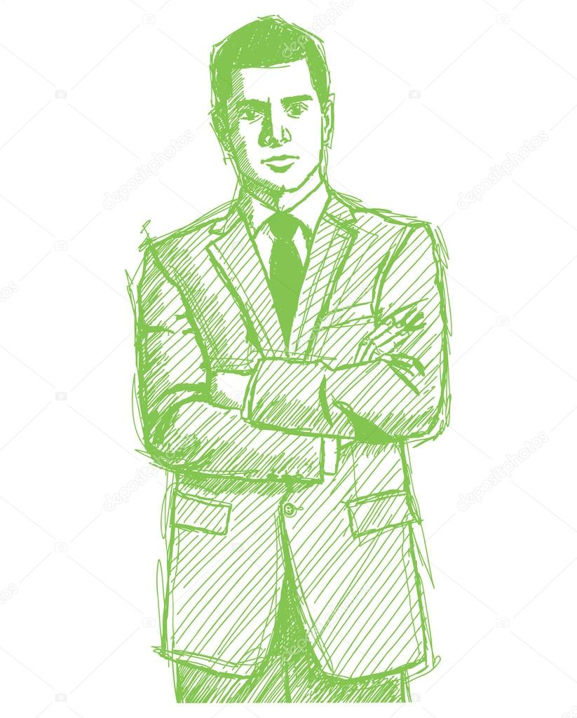 823x1024 Sketch Man Businessman In Suit Stock Vector Leedsn
