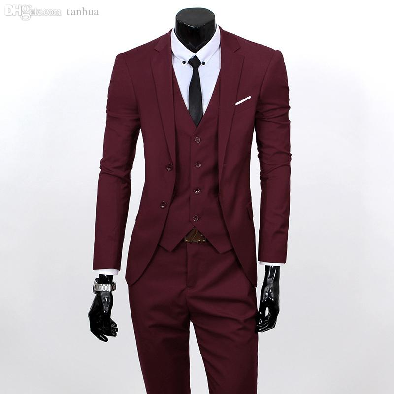 800x800 Wholesale Men Suits Set Jacket pants vest Brand Costume Clothing