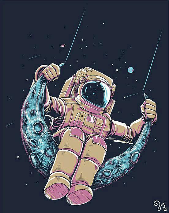 552x694 Swinging On The Moon ^=^ Art Swings, Moon