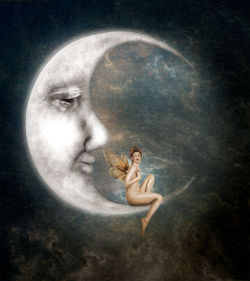 1024x1152 The Man In The Moon By On @ Art