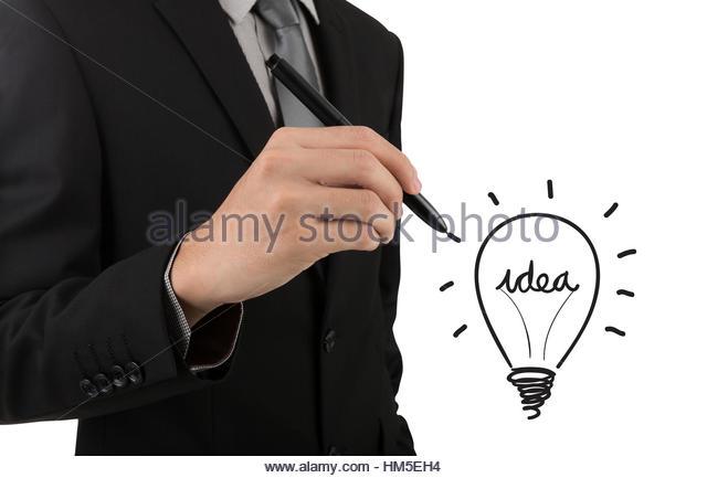 640x433 Business Man Pen Drawing Light Stock Photos Amp Business Man Pen