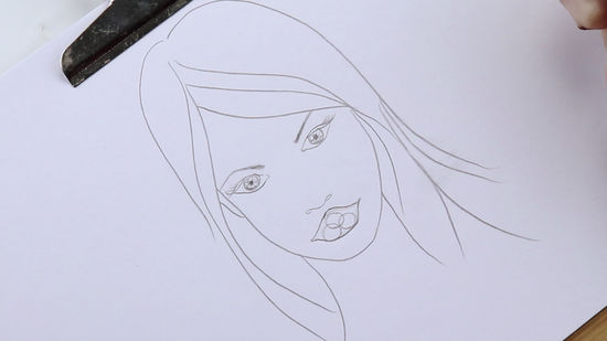 550x309 How To Draw Lips 13 Steps (With Pictures)