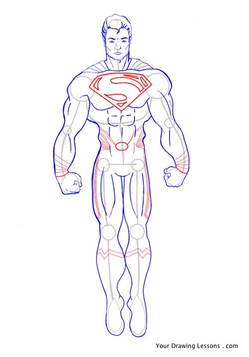 500x716 How To Draw Superman Your Drawing Lessons