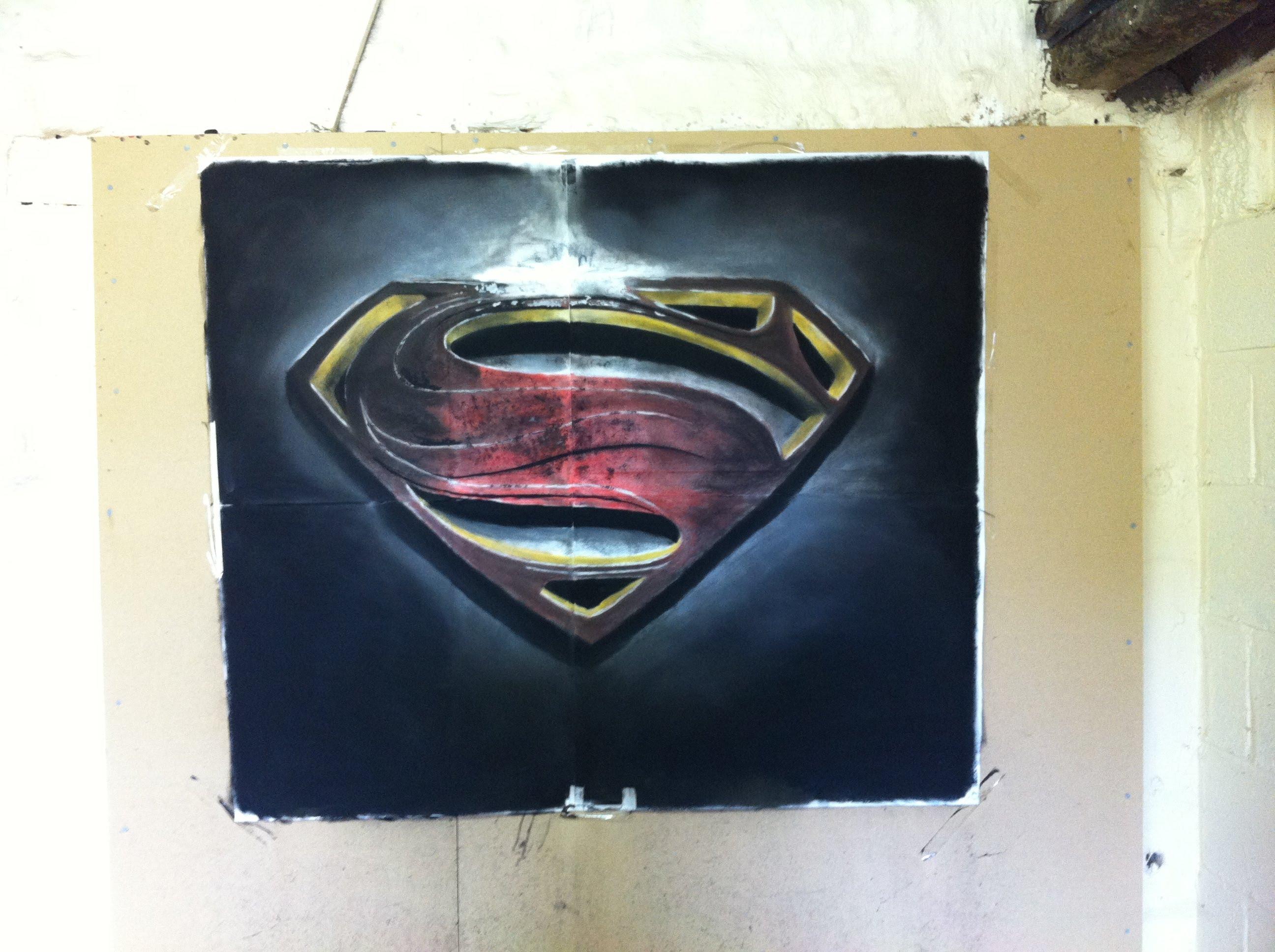 2592x1936 Man Of Steel' Speed Drawing Logo
