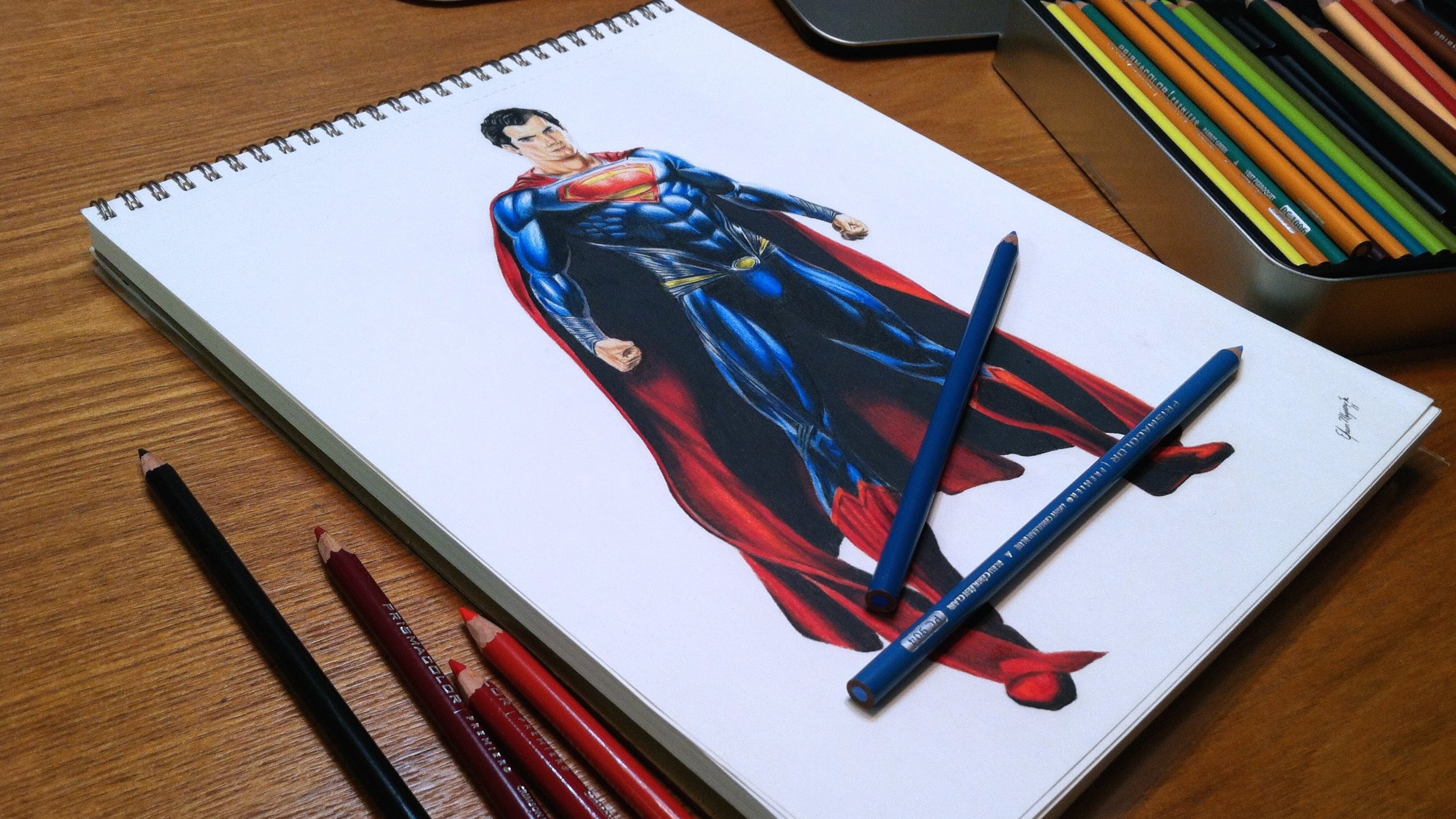 2592x1458 Man Of Steel Time Lapse Drawing