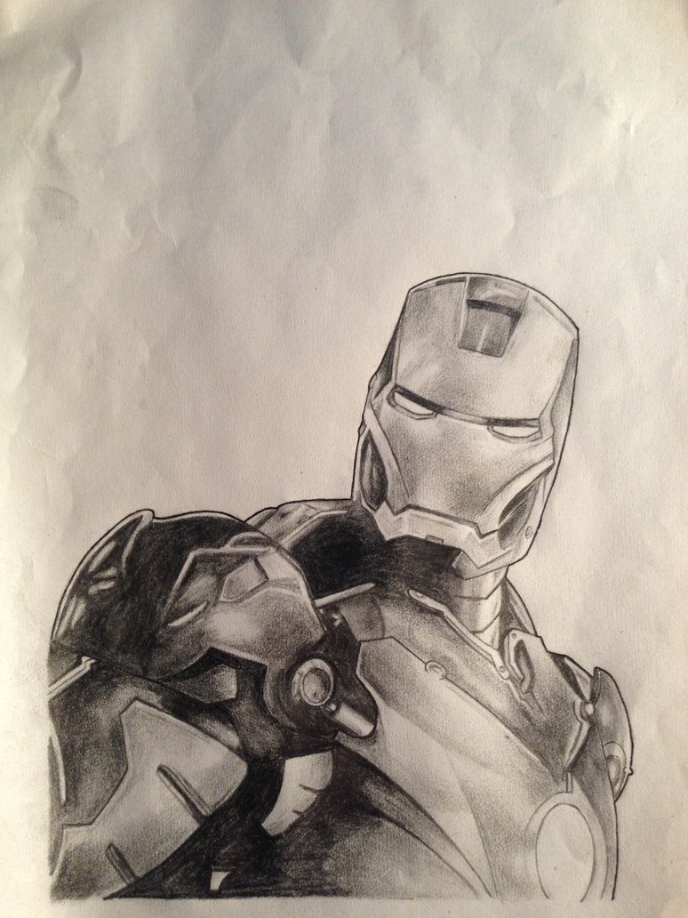 774x1032 Iron Man Pencil Drawing By Crunchmallunch
