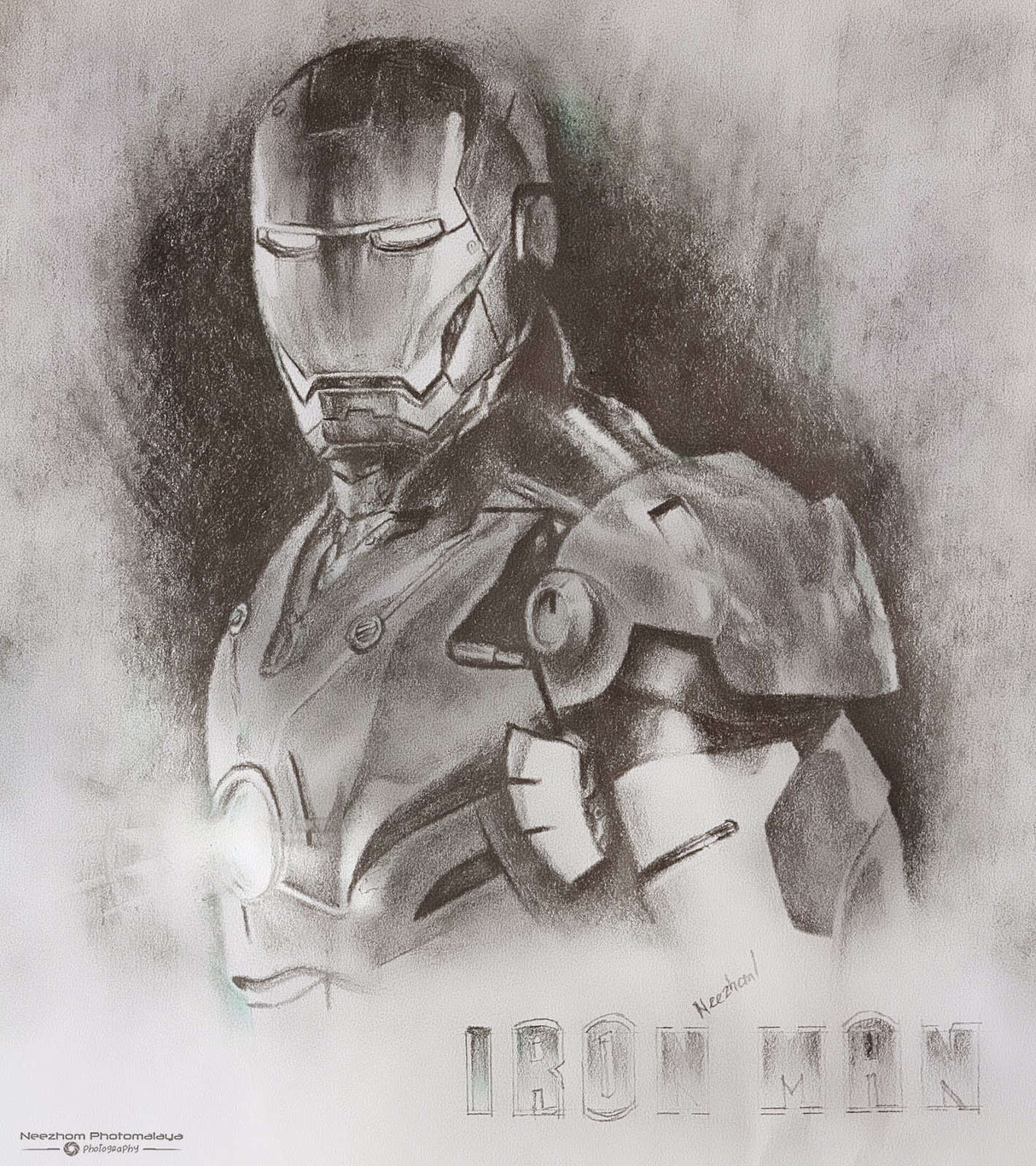 1422x1600 Iron Man Pencil Drawing ~ Neezhom Photomalaya